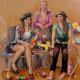 Drei Mädchen |134cm x 142cm |Öl auf Karton |2012